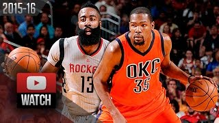 James Harden vs Kevin Durant CRAZY Duel Highlights (2016.04.03) Rockets vs Thunder - MUST Watch!