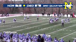 Norwood vs. Dedham Thanksgiving Game Highlights 2014