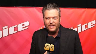 Blake Shelton Jokes That Driving to BTS' Music Is a Hazard for Him (Exclusive)