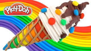 Learn Colors with Play Doh Ice Cream and Rainbow Candy DIY RL
