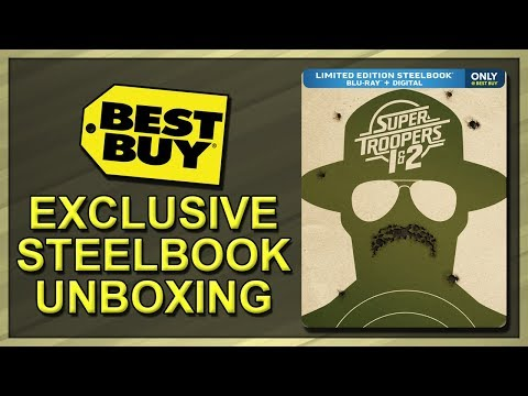 Super Troopers 1 & 2 Best Buy Exclusive SteelBook Unboxing