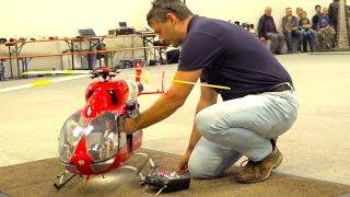 Video SUPER BIG RC TURBINE HELICOPTER INDOOR FLIGHT I EC-145 RESCUE HELI I MESSE RIED MP3, 3GP, MP4, WEBM, AVI, FLV Februari 2019