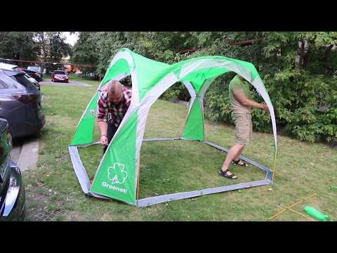 Тент-шатер Greenell «Пергола» серия First Step. Видеообзор.