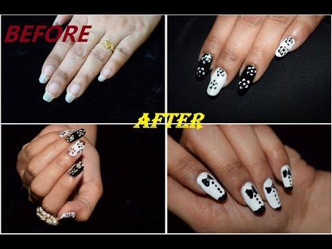 3 Black & White Nail Art Ideas  Beautiful Nails Art  Nail Designs  Nail Art  Nail Designs  B&W