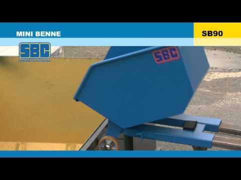 Video Youtube Minibenne basculante basse - Capacité 220 à 830 litres - Charge inférieure à 1000 kg