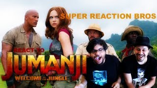 image of SUPER REACTION BROS REACT & REVIEW Jumanji: Welcome To The Jungle Official Trailer!!!!