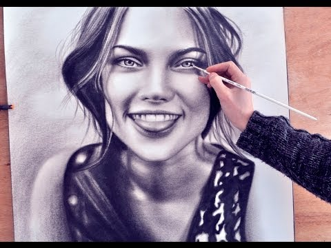 "Paint a Portrait ""Smile of Summer"" drawing (realism) malen vom Foto zeichnen dry brush"