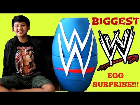 WORLD'S BIGGEST WWE (World Wrestling Entertainment) TOYS EGG SURPRISE / John Cena, Undertaker / TUYC