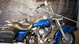 9. 2005 Harley-Davidson Road King Custom FLHRSI Rich Sunglo Blue