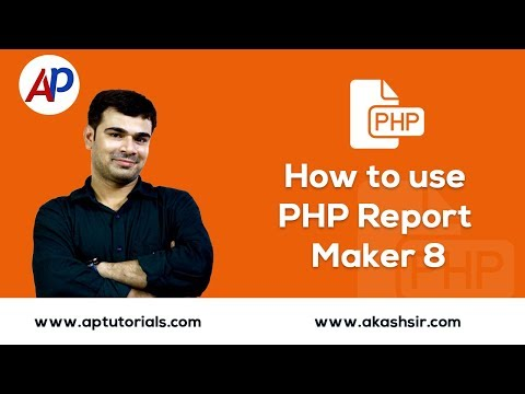 How to use PHP Report Maker
