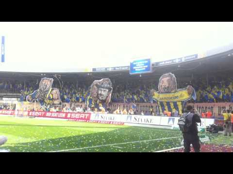 Eintracht Braunschweig Choreo zum Derbysieg 06.04.2014 (видео)