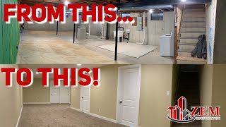 How to Finish Your Basement, Time Lapse - 2019
