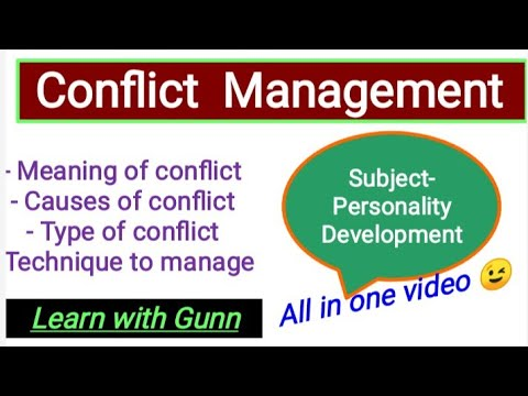 Conflict Management,type,causesmanaging style( Hindi)How to manage conflict? personality development