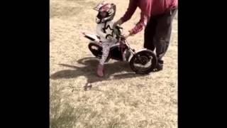 8. 3.5 year old RJ on GasGas TXT E 12 trials bike