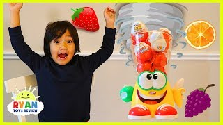 Ryan plays Crazy Blender Game with Kinder Surprise Eggs