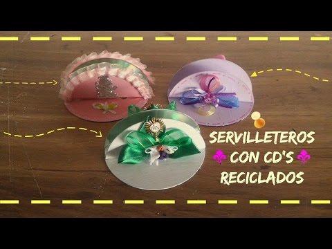 Servilleteros - Utiliza los viejos cd's y crea servilleteros para fiestas o tú casa. ❤Mis Redes Sociales ❤Facebook https://www.facebook.com/hildamontielgalindo ❤Google + htt...