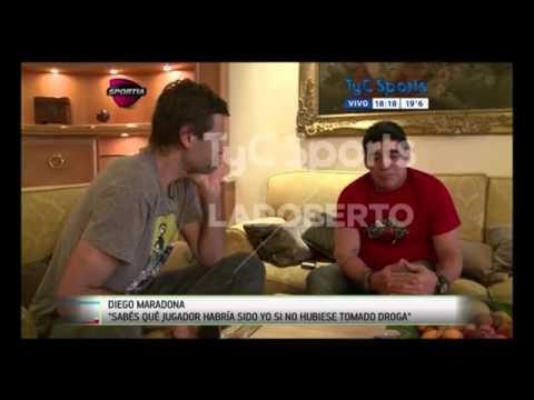"""Maradona: """"Sabés qué jugador habría sido si no hubiese tomado droga"""""""