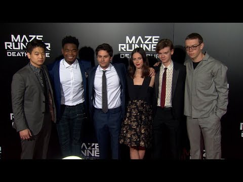 Maze Runner The Death Cure Red Carpet - Dylan O'Brien, Kaya Scodelario, Thomas Brodie-Sangster