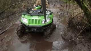 6. ARCTIC CAT 650 H1 4X4 MUDDING AND FAST TRAIL RIDING