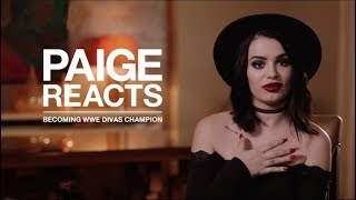 Video PAIGE REACTS to her first WWE Divas SURPRISE CHAMPIONSHIP MP3, 3GP, MP4, WEBM, AVI, FLV Februari 2019