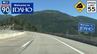 Wallace (ID) United States  city photos gallery : Interstate 90 West Lookout Pass to Wallace, Idaho