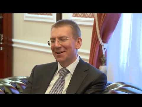Head of the State had a meeting with the Foreign Minister of Latvia Edgar Rinkevich