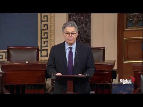 Al Franken resigns from the United States Senate