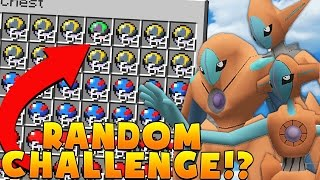 LEGENDARY 1VS1 Minecraft PIXELMON MOD RANDOM POKEMON CHALLENGE - Pokemon Modded Battle Minigame