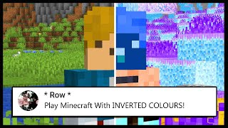 I Had To Play Minecraft In INVERTED COLOURS.. | Minecraft Top Comment #6