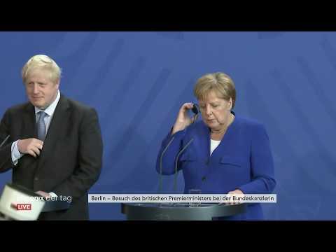 Boris Johnson besucht Bundeskanzlerin Angela Merkel i ...