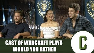 'Warcraft' Cast Plays Would You Rather by Collider