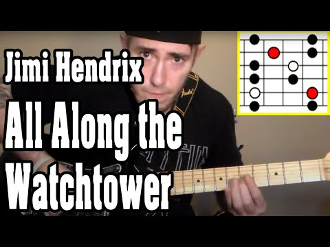 Jimi Hendrix - All Along the Watchtower Guitar Tutorial w/TABS