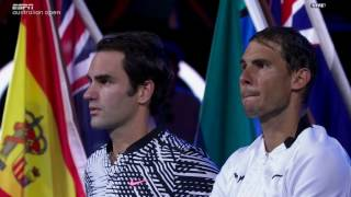 I don't have any rights on this video. All rights of this video belong to ESPN (www.espn.com/tennis) and Australian Open TV. Last 5 games - Federer Nadal 2017 Australian Open Men's Singles Final. As telecast live by ESPN (www.espn.com/tennis) in USA. Commentary by ESPN Team - Chris Fowler,  Patrick McEnroe and John McEnroe. If you want me to remove this video, please send me message on Youtube, I will remove the video, there is no need to report violations of copyright to Youtube.