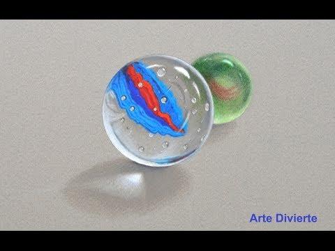 Cómo dibujar canicas - vidrio - cristal