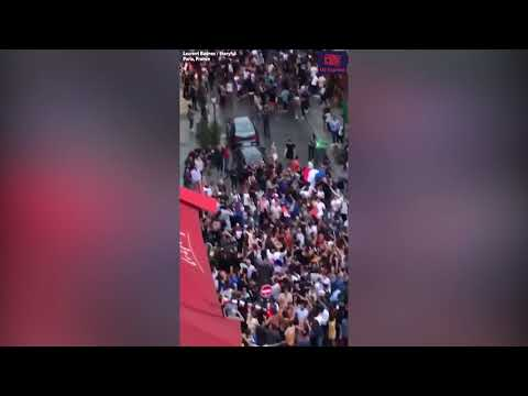 Streets of Paris erupt in celebration as France advances to World Cup final