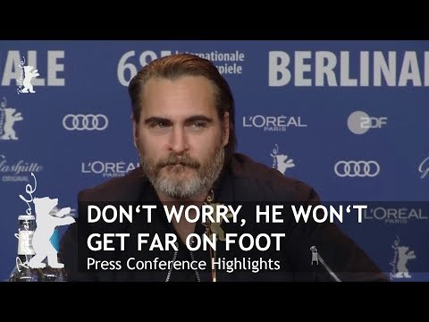 Don't Worry He Won't Get Far On Foot   Press Conference Highlights   Berlinale 2018