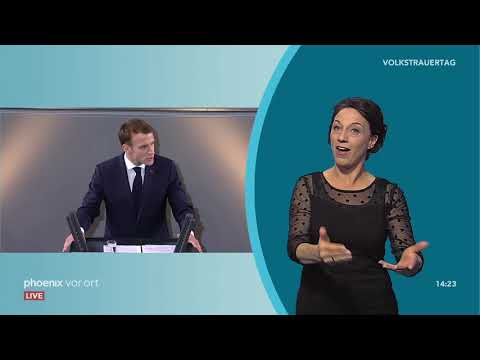 Rede von Emmanuel Macron bei der Gedenkstunde zum Vol ...