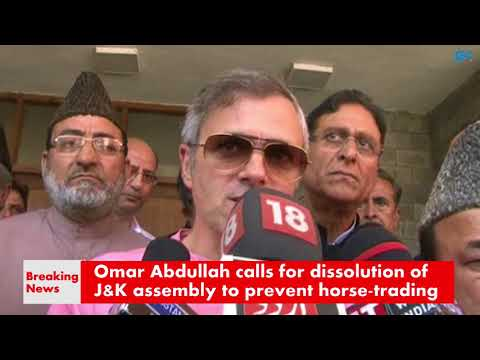 Omar Abdullah calls for dissolution of Kashmir assembly to prevent horse-trading