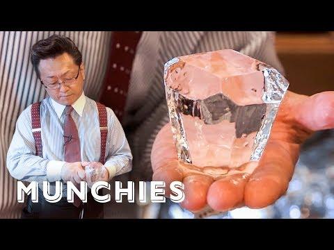 Crafting Ice Diamonds - Japanese Bartending
