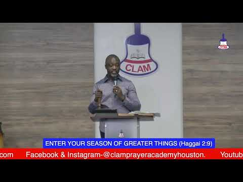 ENTER YOUR SEASON OF GREATER THINGS (Haggai 2:9)