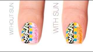 Tribal Color-Changing Nail Art Design
