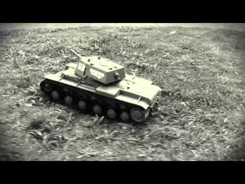 Танк р/у 1:16 Heng Long КВ-1 с пневмопушкой и дымом (HL3878-1)