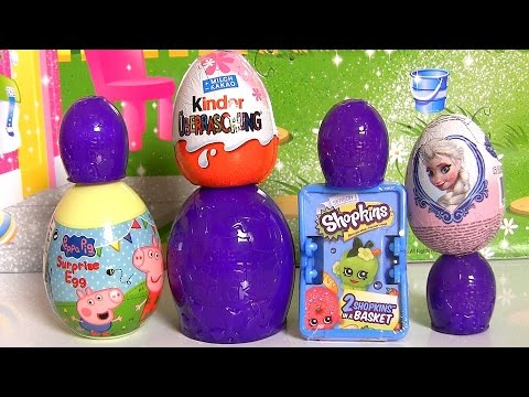 pig - Disneycollector presents Unboxing Huevos-Sorpresa from different cartoon characters such as Shopkins Surprise Basket, Kinder Surprise Egg, Disney-Frozen Elsa, Trash Pack 12 Rotten Eggs, Nickelodeon...