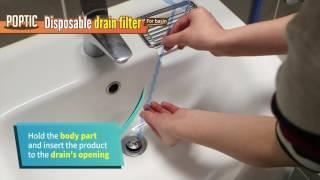 video thumbnail POPTIC - Disposable Drain Filter youtube