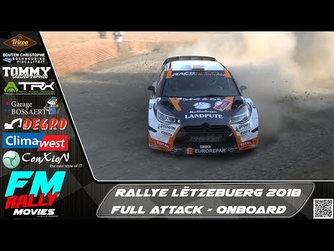 Rallye Lëtzebuerg 2018 | Full Attack - ONBOARD | FM rallymovies [HD]