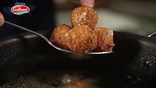 Recette Sałatka ze szpinakiem, pancettą i chrupiącą mozzarellą Galbani