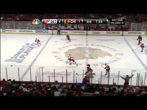 Valtteri Filppula backhand goal 4-1 May 18 2013 Detroit Red Wings vs Chicago Blackhawks NHL Hockey_Best videos: Ice hockey