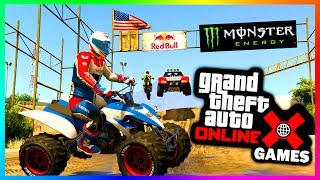 GTA ONLINE X GAMES 2017 SPECIAL - EXTREME 4X4 OFF ROADING, CUSTOM TRUCKS, BMX BIKES & MORE! (GTA 5)►Cheap GTA 5 Shark Cards & More Games: https://www.g2a.com/r/mrbossftw►Find Out What I record With: http://e.lga.to/MrBoss My Facebook: https://www.facebook.com/MrBossFTWMy Snapchat:https://www.snapchat.com/add/MrBossSnapsMy Twitter: https://twitter.com/#!/mrbossftwMy Instagram:http://instagram.com/jamesrosshudginsFollow THE SQUAD:►Garrett (JoblessGamers) - https://www.youtube.com/Joblessgamers►DatSaintsfan - https://www.youtube.com/360NATI0N►MrBossFTW - https://www.youtube.com/MrBossFTWFollow Knifeguy (HE MAKES MY THUMBNAILS):https://www.youtube.com/channel/UCyvCZpUaXfCAYNHscgg8QrQCheck out more of my GTA 5 & GTA 5 Online videos! I do a variety of GTA V tips and tricks, as well as funny moments and information content all revolving around the world of Grand Theft Auto 5: http://www.youtube.com/playlist?list=PL4P1Iz2th7dUuZBXXYz8Wj5G4gQrM4bf1Hope you enjoyed this video! Thanks guys and have an awesome day,Ross.