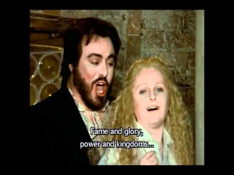 Rigoletto - Giovanna, ho dei rimorsi (Gruberova, Pavarotti)