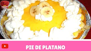 Como hacer un rico postre frio Pay de Platano bien facil INGREDIENTES: -plato para pay (pie crust) -un sobre de pudin de vanilla instantanio -2 platanos -1 3...
